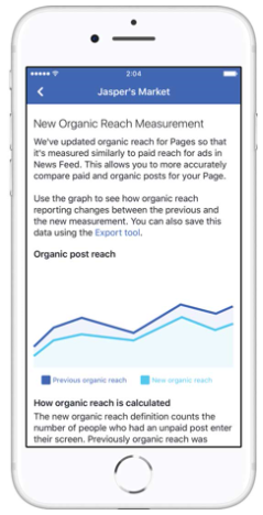 Facebook: organic reach calculations will depend on viewability